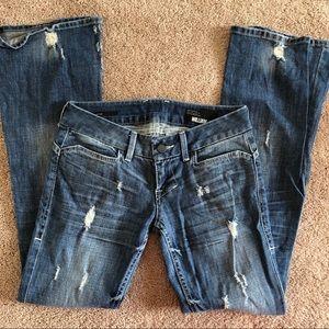 William Rast Flare Distressed Jeans Sz 27